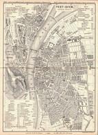 ~1850 PEST-OFEN (Budapest) , Stadtplan 15 X 21 Cm Von Wagner,Darmstadt - Cartes Géographiques