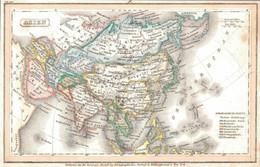 ~1850 ASIEN Landkarte 14,5 X 9,5 Cm Kol.Stahlstich Bei Geogr. Institut Hildburghausen - Cartes Géographiques