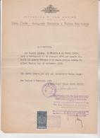 DOCUMENTO  CON  MARCA  FISCALE  DA  LIRE  5 .  REPUBBLICA  DI  SAN  MARINO   1949 . - Brieven En Documenten