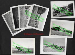 Moisson à Saint Quintin Sur Sioule / Riom Puy De Dôme  / 8 Photos De Famille 1930 / Agriculture Ferme Tracteur - Riom