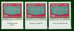 HELVETIA - Mi. 733 - Pro Patria - MNH** - Bogenrand/Bord De Feuille/Tab - (ref. TAB-24) - Pro Patria
