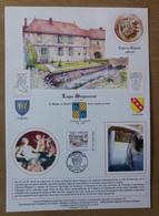 Document à Tirage Limité Avec Illustration De Roland Irolla : LOGIS SEIGNEURIAL - LISLE-EN-RIGAULT (Meuse) - Personalized Stamps (MonTimbraMoi)