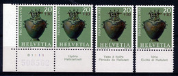 HELVETIA - Mi. 972 - Pro Patria - MNH** - Bogenrand/Bord De Feuille/Tab - (ref. TAB-31) - Pro Patria