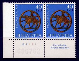 HELVETIA - Mi. 974 - Pro Patria - MNH** - Bogenrand/Bord De Feuille/Tab - (ref. TAB-33) - Pro Patria