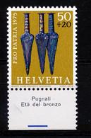 HELVETIA - Mi. 1055 - Pro Patria - MNH** - Bogenrand/Bord De Feuille/Tab - (ref. TAB-35) - Pro Patria