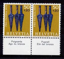 HELVETIA - Mi. 1055 - Pro Patria - MNH** - Bogenrand/Bord De Feuille/Tab - (ref. TAB-36) - Pro Patria