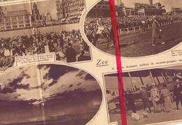 Orig. Knipsel Coupure Tijdschrift Magazine - Aan Zee , Oostende  - 1927 - Unclassified