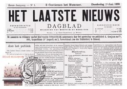 B01-190 BELG1987 2272 FDC's Brussel 1180 Bruxelles Het Laatste Nieuws 2€. - Maximum Cards