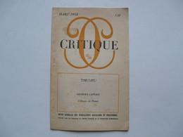 REVUE GENERALE DES PUBLICATIONS FRANCAISES ET ETRANGERES - CRITIQUE : L'Oeuvre De PROUST - Books, Magazines, Comics