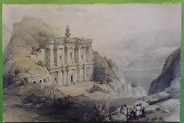PETRA Jordan Kingdom Jordanie, El Deir, Painting By David ROBERTS 1839 , TB - Giordania