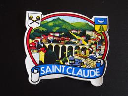 Blason écusson Adhésif Autocollant Saint Claude (Jura)  Aufkleber Wappen Coat Arms Adhesivo Adesivo Stemma - Oggetti 'Ricordo Di'
