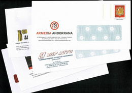 ANDORRE ANDORRA Superbe Lot De 5 PAP Prêt à Poster Commerciaux Divers Thèmes Illustrés  Tous Différents    LUXE - Postwaardestukken & Prêts-à-poster
