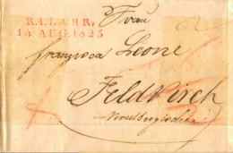 1825 R.4.LAHR, Bf Mit Inhalt Nach Feldkirch - [1] Prephilately