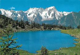 Lago D'Arpy, Sullo Sfondo La Catena Del M. Bianco. Non Viaggiata - Altre Città