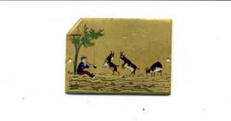 Médaille Ou Décoration émaillée (?) Pâtre Et Chèvres / (fin XIXème - Début XXème) - France