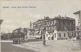 ARONA-NOVARA-PIAZZA DELLA VECCHIA STAZIONE-CARTOLINA NON VIAGGIATA -ANNO 1910-1920 - Novara