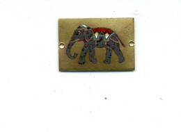 Médaille Ou Décoration émaillée (?) Eléphant / (fin XIXème - Début XXème) - Otros