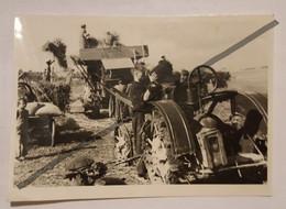 Photo Vintage. Original. Agriculture. Vieux Tracteur. Machine à Vapeur. Lettonie D'avant-guerre - Berufe