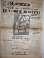 Journal Humanité Parti Communiste 1 Mai 1935 Manisfestations Mettings Draveil Hitler Chiappe Alfortville - Andere