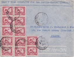 "INDOCHINE : OBL . "" CHOLON COCHINCHINE  "" . POUR ANNECY . 1949 . - Cartas"