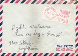 France Par Avion Letter Via Yugoslavia 1974 - Franking Label - 1969 Montgeron – White Paper – Frama/Satas