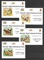 Burundi 2012 Insects - Butterflies  Of Africa I 5 MS MNH - 2010-..: Ongebruikt