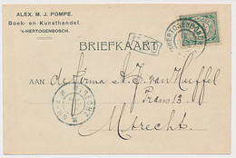 Firma Briefkaart S Hertogenbosch 1904 - Boek- Kunsthandel - Non Classés