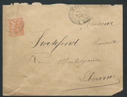 Lsc AFFR. / YVT N° 117 OBL CAD TYPE 84 SAINT DENIS DE PILE   ( GIRONDE )   3/08/1901  - LL18909 - Marcofilie (Brieven)