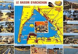 France Le Bassin D'Arcachon Map, Ares Le Canon Le Hume Le Cap Ferret La Teste - Altri