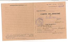 1943 CARTE DE SINISTRE / VILLE DE PARIS / ALLEE DES ACACIAS  C1127 - Historische Documenten