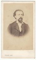 CDV Photo Foto Um 1860/65 - Gustave Levy, Paris - Feiner Herr Mit Bart, Name Rückseitig - Identified Persons