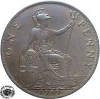 LaZooRo: Great Britain 1 Penny 1919 XF / UNC - 1902-1971 : Monete Post-Vittoriane