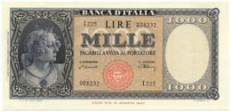 1000 LIRE ITALIA ORNATA DI PERLE MEDUSA 10/02/1948 SUP+ - [ 2] 1946-… : Repubblica