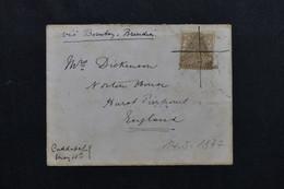 INDE - Enveloppe Pour Le Royaume Uni En 1877 Via Bombay, Affranchissement Victoria, Oblitération Plume - L 72131 - 1858-79 Crown Colony