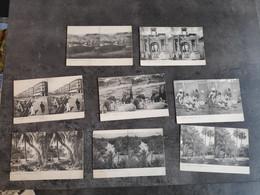 LL LOT 8 CARTE POSTALE CP STEREO ALGÉRIE EL KANTARA BISKRA KABYLIE ALGER CONSTANTINE TEBESSA OASIS PALMIERS TBE - Stereoscope Cards