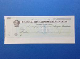 ASSEGNO BANCARIO NUOVO ANNULLATO CASSA DI RISPARMIO DI S MINIATO FILIALE DI CERRETO GUIDI - Cheques & Traverler's Cheques