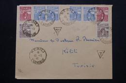 TUNISIE - Taxes De Kebili Sur Enveloppe En 1941 En Port Local - L 72145 - Covers & Documents