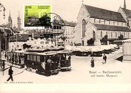 Maximumkarte 2020 Basler Tram, Jubiläum Strassenbahn Basel - Barfüsserplatz Um Jahrhundertwende - Maximumkarten (MC)