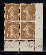 Coin Daté - YV 277A N** Semeuse Du 8.2.35 - 1930-1939