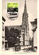Maximumkarte 2020 Basler Tram, Jubiläum Strassenbahn Basel - Kirschgarten Elisabethenkirche Um Jahrhundertwende - Maximumkarten (MC)