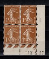 Coin Daté - YV 277B N** Semeuse Du 13.2.37 - 1930-1939