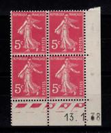 Coin Daté - YV 278B N** Semeuse Du 13.1.38 - 1930-1939