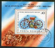 ROMANIA 1985 Vintage Motor Cycle Block Used   .  Michel Block 217 - Usati