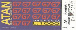 Biglietto Speciale ATAN Da 1000 Lire Evento G7 1994 Napoli (06) - Europa