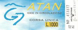 Biglietto Speciale ATAN Da 1000 Lire Evento G7 1994 Napoli (07) - Europa