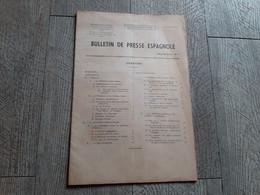 Bulletin De Presse Espagnole Sept 1945 Espagne économie Catalogne Politique Franco Degrelle Documentation - Historia