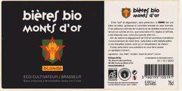 Etiquette (label) De Biere Française  ( Beer, Cerveza, Birra, Bier);Micro-Brasserie Du Monts D'Or  69 - Bière
