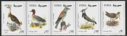 2003 Syria Birds: Bustard, Teal, Roller, Lapwing, Woodcock Set (** / MNH / UMM) - Non Classificati
