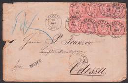 Leipzig Auslandsbrief Nach Odessa 20 DEZ 1870, Frankiert Mit8 Marken Zu 1 Groschen, Brief Unsauber - North German Conf.