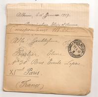 1917 POSTA MILITARE TRUPPE OCCUPAZIONE  3 / ALBANIA A PARIS / CENSURE C1132 - Albanie